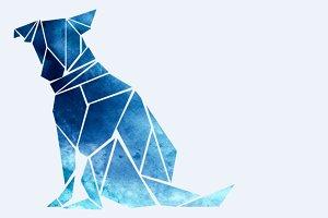 Geometric Dog Silhouette