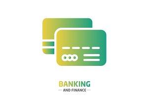 Shape design finance icon credit card