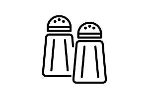 Web line icon. Salt and pepper black