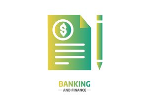 Shape design finance icon banking