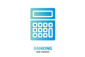 Shape design finance icon banking calculator