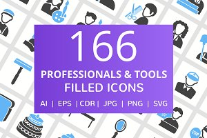 166 Professionals & Tool Filled Icon