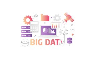 Illustration technology big data