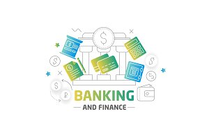 Illustration shape lines finance