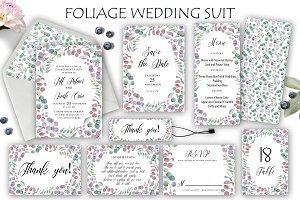 Foliage Wedding Suit