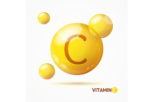 3d Vitamin C Background Card