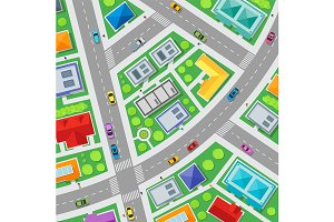 City Streets Map Background