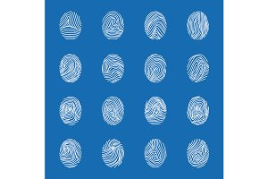 Various Unique Fingerprints Set