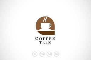 Coffee Talk Logo Template