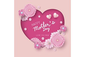 Happy mother's day card design