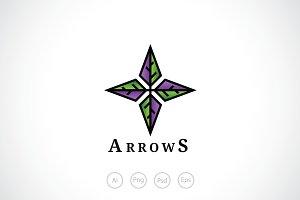 Four Arrows Logo Template