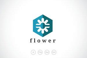 Ice FLower Logo Template