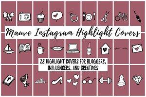28 Mauve Instagram Highlight Covers