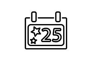 icon Calendar, Christmas (December)