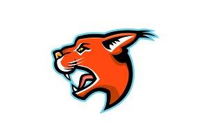 Caracal Head Side Mascot