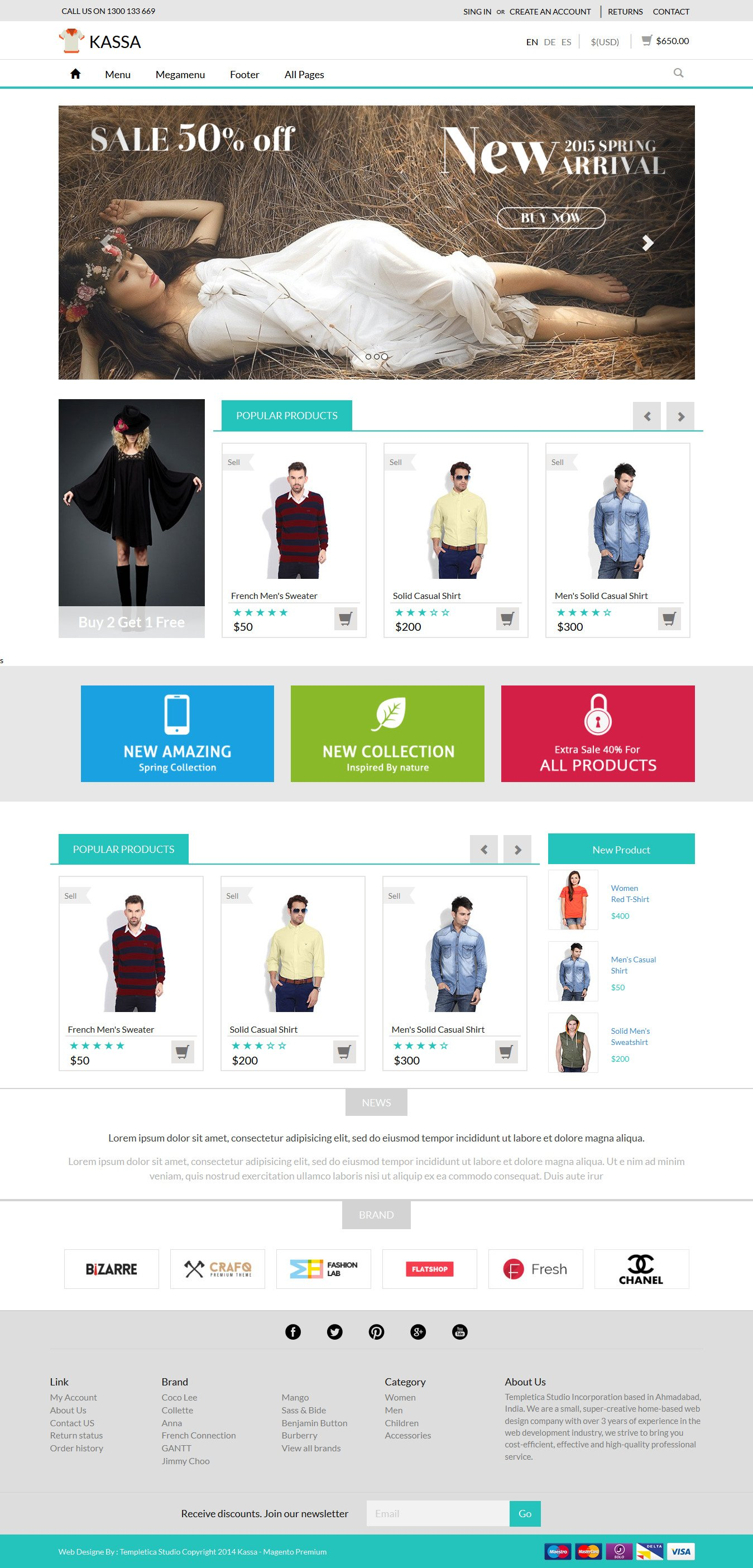 Kassa Ecommerce Responsive Template Bootstrap Themes Creative Market