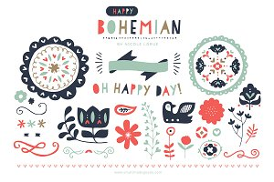 Happy Bohemian (Clipart)