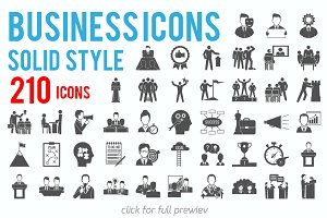 210 Vector Business Icons Set