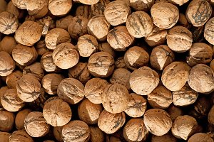 Background from walnuts
