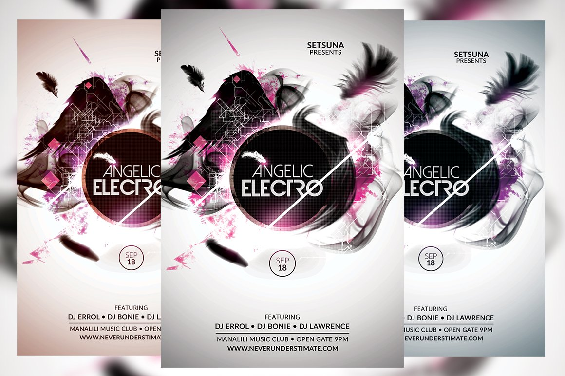 Angelic Electro Flyer ~ Flyer Templates ~ Creative Market