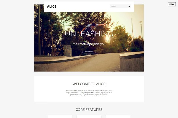 Alice: Multi-Purpose HTML Template