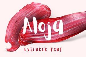 Aloja Extended Brush Font