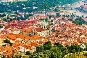 View of Mala Strana district in Prague