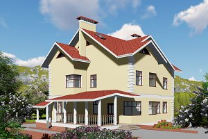 3D render the house