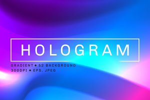 52 Hologram Texture Gradients pack