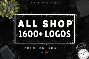 All Shop! 1600+ Logos Mega Bundle