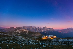 Italian Alps at Night