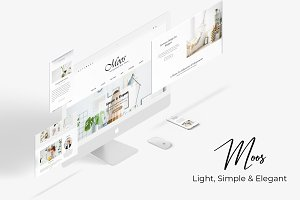 Moos Simple Elegant Blogging Theme