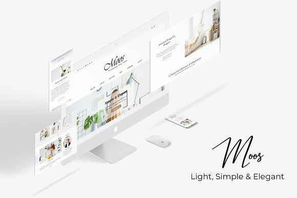 Moos Simple Elegant Blogging Theme