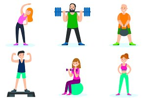 Workout People Set