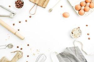 Frame of food ingredients