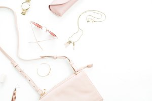 Pink female accessories