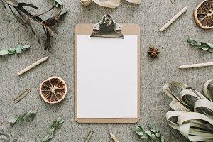 Blank paper clipboard