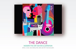 The Dance fine art vector painting