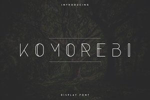 Komorebi Display Font -30%