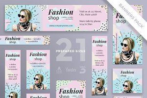 Banners Pack | Fashion Shop