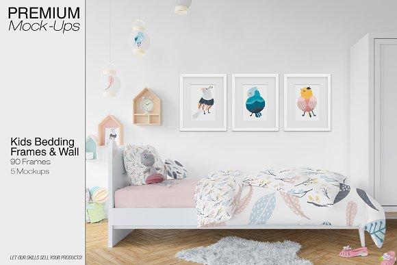 Kids Bedding Frames Wall Set