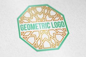 15 Geometric linear logo templates