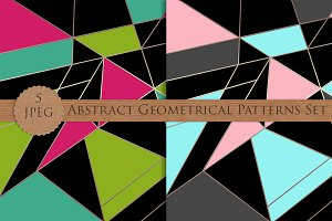 GEOMETRICAL abstract patterns set