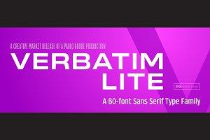 Verbatim Lite - HUGE 60-Font Family