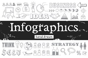 Hand drawn infographics elements