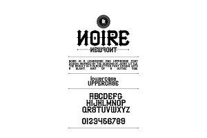 NOIRE font