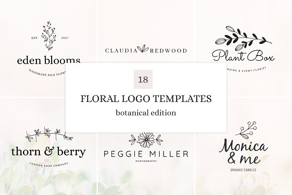 Logo Templates: amber&ink - Botanical Logo Bundle