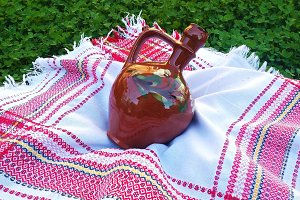 Bulgarian traditional clay pitcher