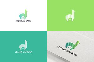 Llama and camera logo design
