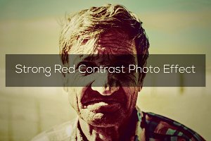 Strong Red Contrast Photo Effect